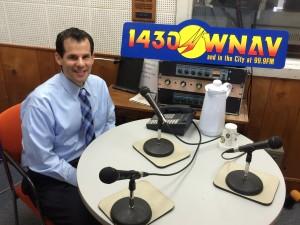 Victor A. Lembo, Attorney recording at WNAV radio station