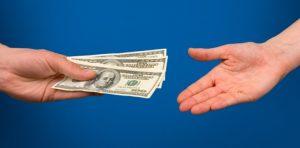 Distributing money